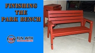 Project Update - Finishing The Park Bench