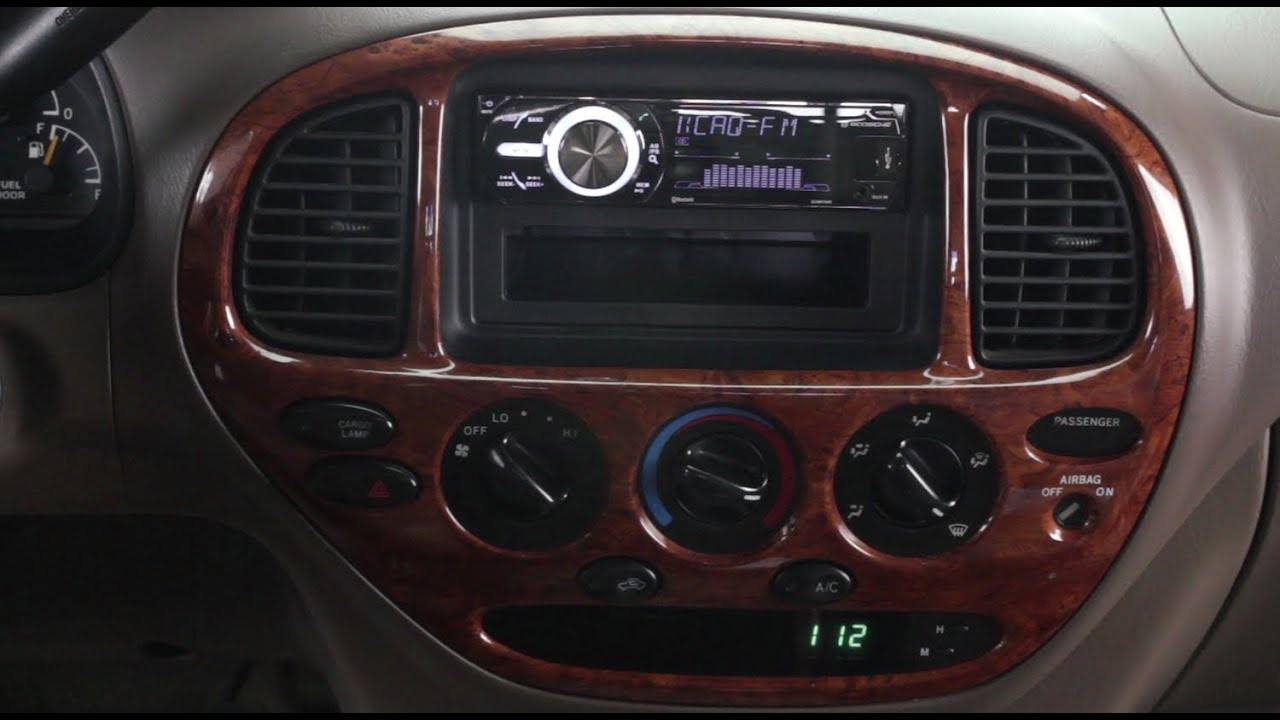 small resolution of basic installation of an aftermarket stereo into a toyota vehicle youtube