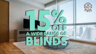15% off a wide range of blinds at Guthrie Bowron*