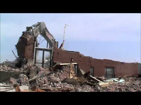 """Glover School, Marblehead, Massachusetts. The end . . for the """"old"""" building!"""