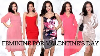 Dress Feminine : Valentine's Day Outfits | Glam Occasion Wear Lookbook