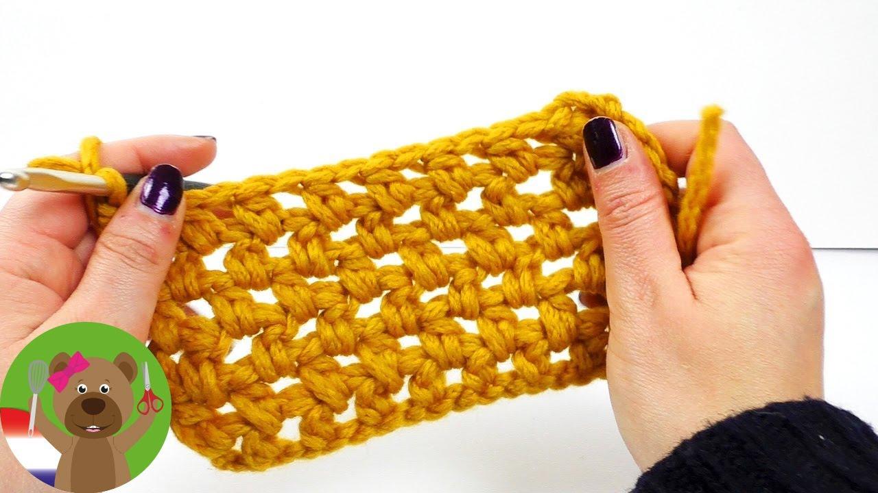 Brick Stitch Met Halve Stokjes Makkelijk Haakpatroon Patroon Met