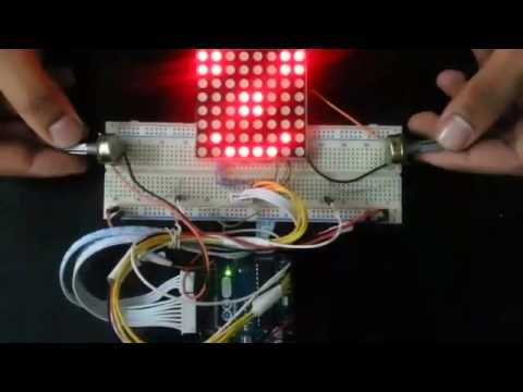 Ping-pong game using arduino and LED matrix 8x8 (Dr.Taha)