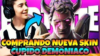 BUYING NEW SKIN *FORTNITE CUPID DEMOCIACO LIVE