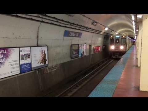 【アメリカ】 シカゴ・L (CTA) ブルーライン クリントン駅 Chicago