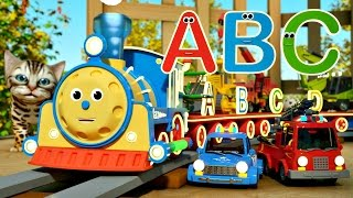 Мультфильм про машинки и паровозики. Макс и английский алфавит ABC