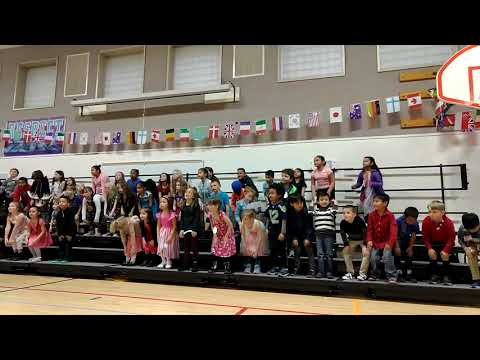 Sydney sings at Multicultural Night at Lydia Hawk Elementary School 3.22.19