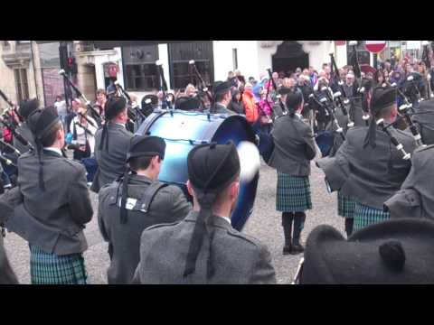 Cowal Games 2014 - IDPB Playing down the street - #3