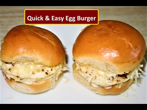 Egg Burger Recipe| Quick & Easy Egg Burger |Healthy Egg Sandwich Recipe