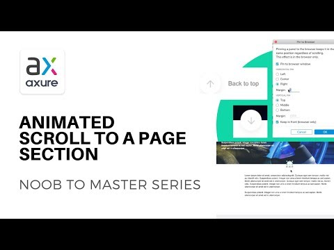 Smart Scroller: Scroll to a Section of a Page in Axure
