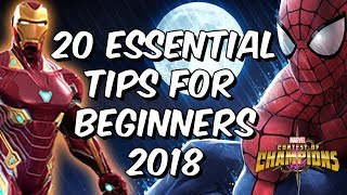 20 Essential Tips For Beginners 2018 - Marvel Contest Of Champions