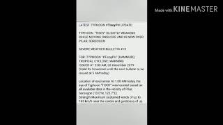 "LATEST UPDATE ABOUT TYPHOON ""TISOY""//RAMDAM NG BUONG BICOL//"