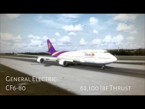 FSX   Boeing 747 PW vs GE vs RR sounds