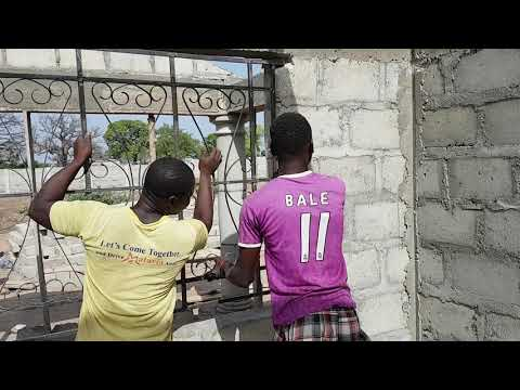 *14* Building In Ghana - Installing Of Burglar Proofs And Roofing