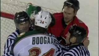 02 27 2009 D Boogaard Elbow's B Prust 5 Game Suspension