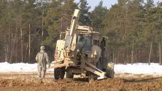 Army Engineer in Action: High Mobility Engineer Excavator; Motor Grader; DV100 DEUCE
