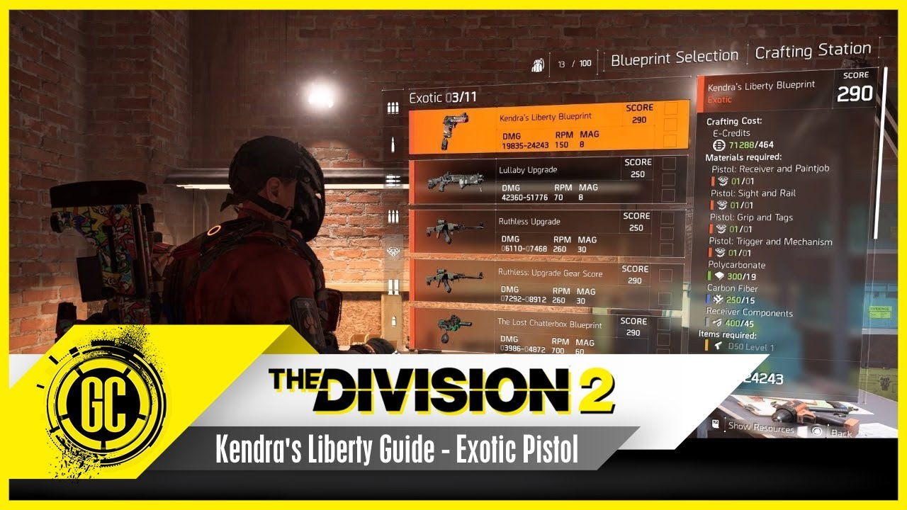 The Kendra's Liberty Exotic Blueprint Guide | The Division 2