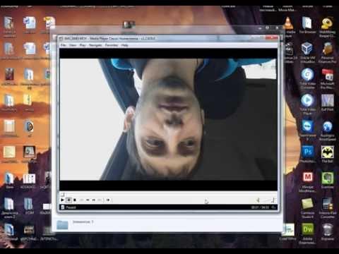 Как развернуть видео на 90 градусов в windows media player и сохранить