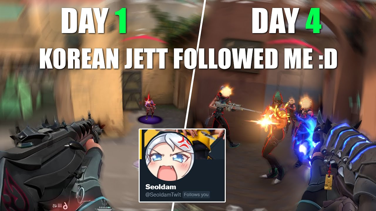 I mained Jett everyday for 1 week and here is how I progressed (Valorant)