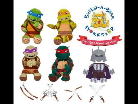 Build-A-Bear Workshop TMNT Ninja Turtles - KidToyTestersHD (Yumiko)