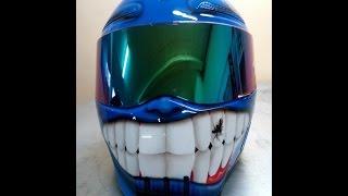 Мото шлем Bandit Alien II Be Happy custom airbrush(Работа от ФедоровМото & F.A.Q. Studio Художник - Виноградова Юлия Подписывайся! Эскизы, портфолио нашей студии..., 2014-08-11T17:39:33.000Z)