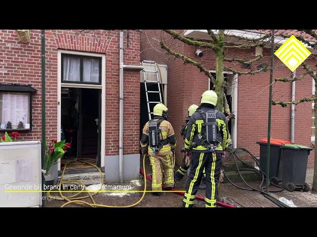 Gewonde bij brand in centrum Ootmarsum