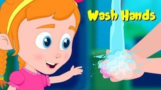 Wash Hands | Schoolies Nursery Rhymes & Cartoon Songs by Kids Channel