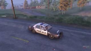 Полицейская машина заблудилась в деревне  Полицейские машинки мультик