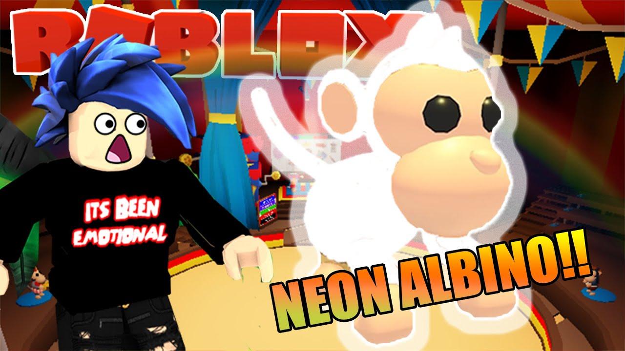 Neon Albino Monkey Pet In Adopt Me Roblox Is Amazing Youtube