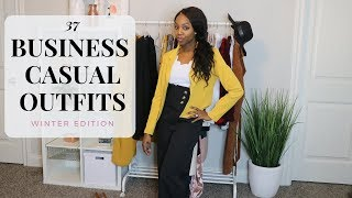 13 BUSINESS CASUAL PIECES = 37 OUTFITS! ONE MONTH OF OFFICE WEAR OUTFIT IDEAS| Winter Edition
