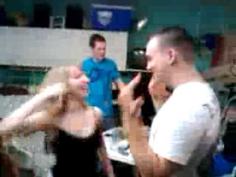 Hot chick punches Marine