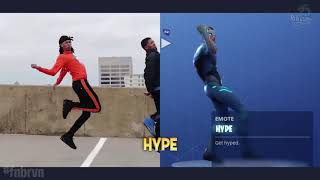 ALL SEASON 4 DANCE IN REAL LIFE REFERENCE - FORTNITE