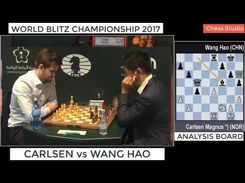 CARLSEN vs WANG HAO || WORLD BLITZ CHAMPIONSHIP 2017
