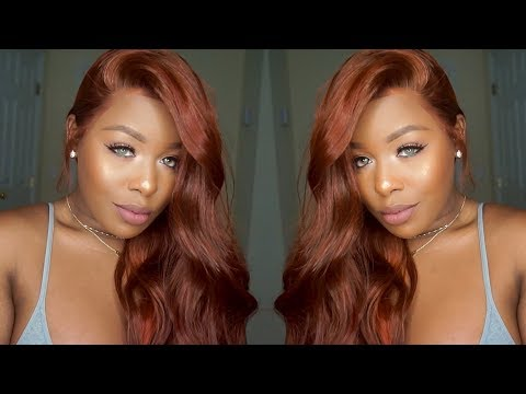 Pre-Colored Popular Auburn Hair Color Lace Front Wig  ft. Divawigs.om