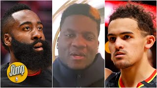 Clint Capela explains the difference between James Harden and Trae Young | The Jump
