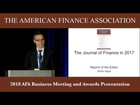 2018 AFA Business Meeting and Awards Presentation