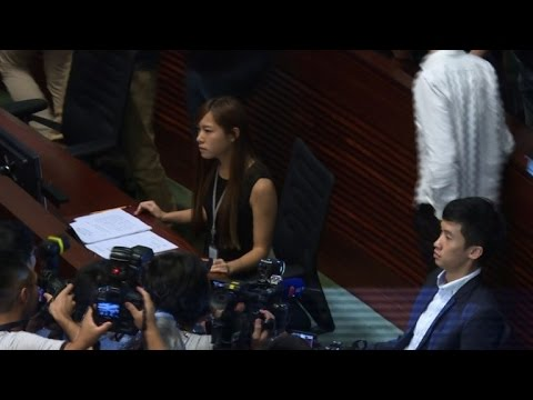 Stand-off in Hong Kong legislature over pro-independence oaths