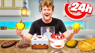 I Cooked Every Minecraft Food In 24 Hours!