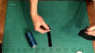 Кошелек-картхолдер и брелок на ключи из натуральной кожи / Leather wallet, leather key chain