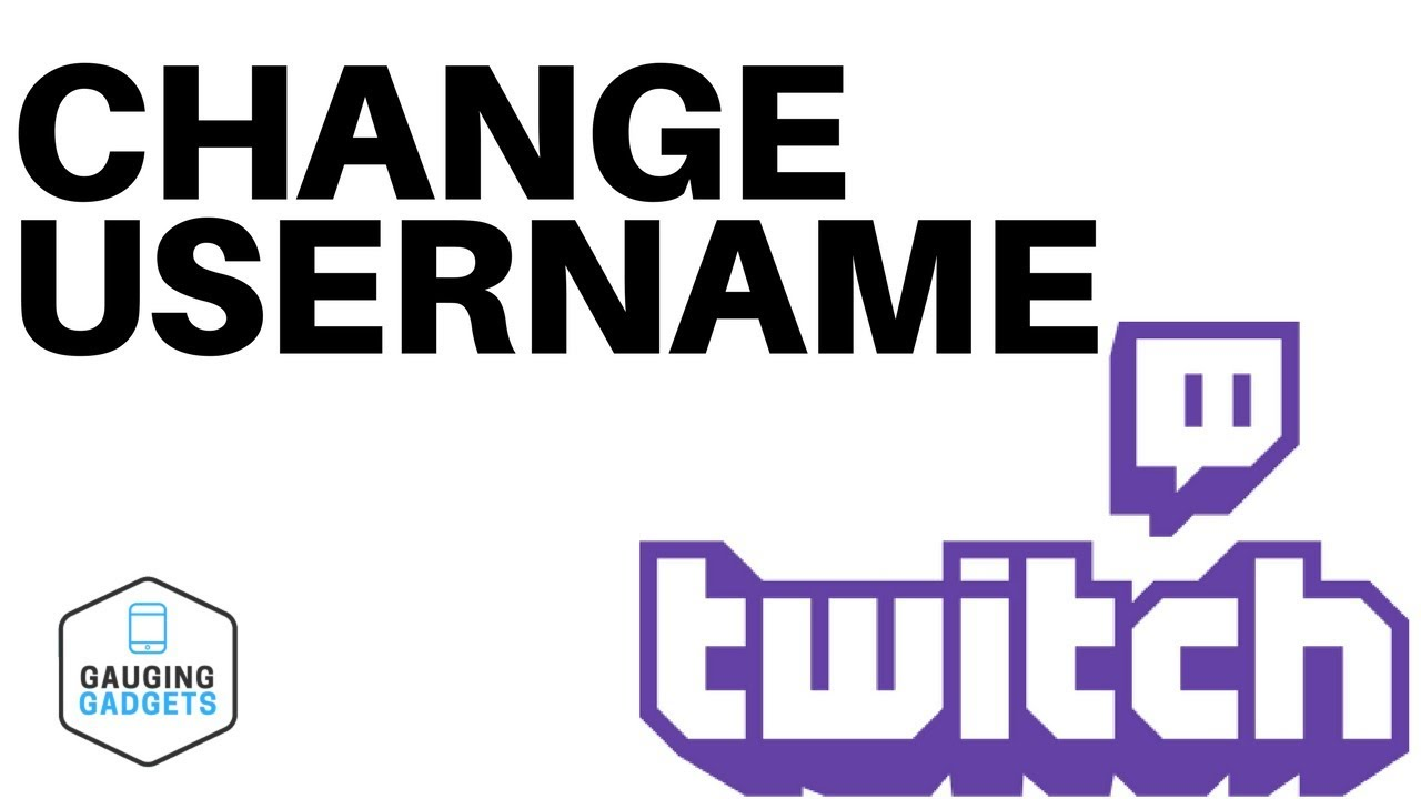 How To Change Your Twitch Username - Twitch Tutorial - YouTube
