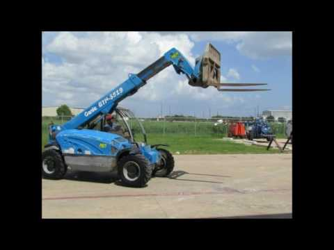 For Sale 2008 Genie GTH-5519 5.5K Compact Reach Forklift Telehandler bidadoo.com