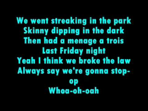 last friday night lyrics katy perry