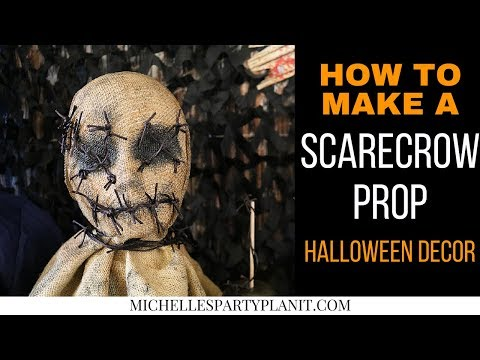 How to Make a Scarecrow Prop for Halloween Decor