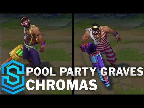 Pool Party Graves Chroma Skins