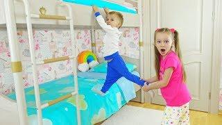 Лиза и Миша не поделили свою кровать