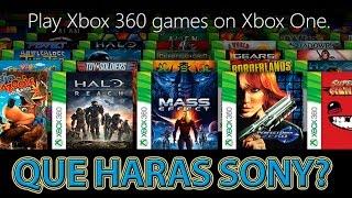 E3 2015 Microsoft aununcia Xbox One retrocompatibilidad, que haras sony?