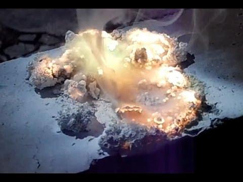 Burning Cubic Magnesium