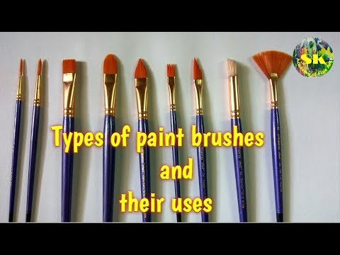 Types of paint brushes and their uses# complete guide