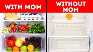 WITH MOM VS WITHOUT MOM