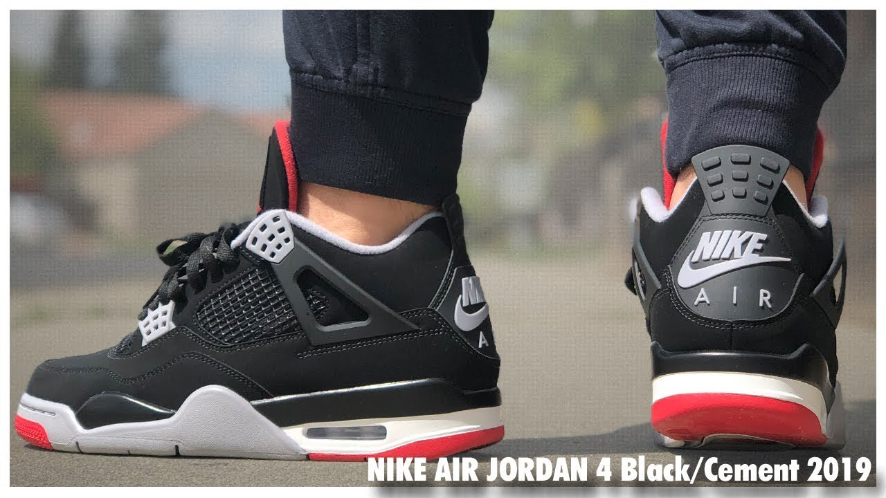 Marco de referencia local Mariscos  Air Jordan 4 'Bred' 2019 | Review - YouTube